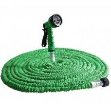 Шланг для полива садовый X-hose Magic Hose зелёный 75 м с насадкой