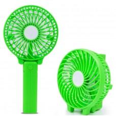 Портативный ручной или настольный мини вентилятор с USB зарядкой Mini Fan Зелёный